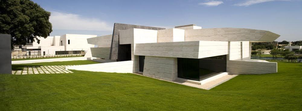 Arquitectura De Casas Una Casa De M Rmol Blanco En Espa A