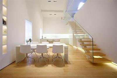Arquitectura de casas escalera de loft contempor neo for Arredamento minimalista design
