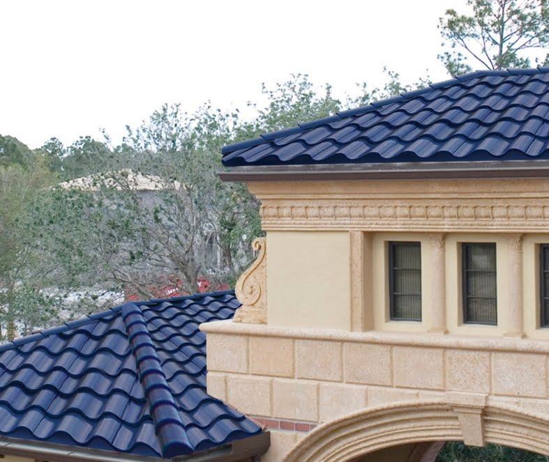 Arquitectura de casas tejas curvas solares usa for Tejados sin tejas