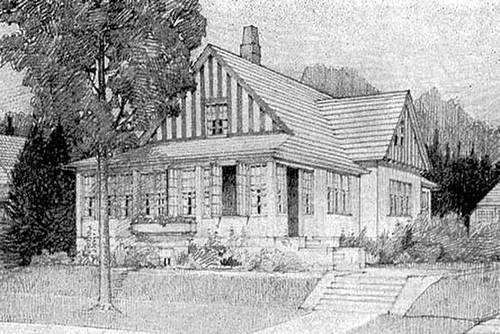 Arquitectura de Casas Dibujo de casa clsica norteamericana