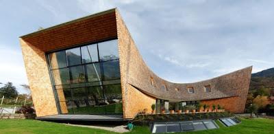 Diseño de arquitectura villa posmoderna