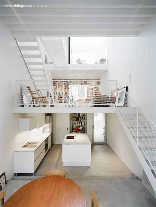 Interior de la casa Minimalista en Suecia