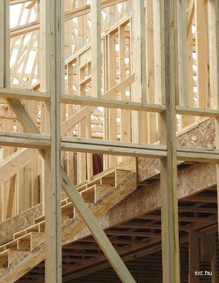 Casa de madera construcción