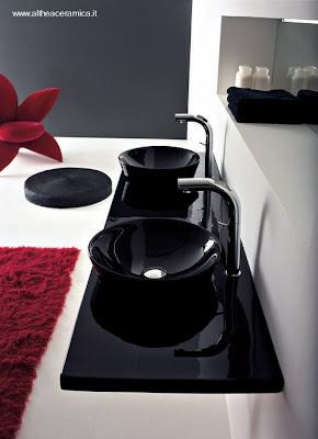 Lavamanos negros