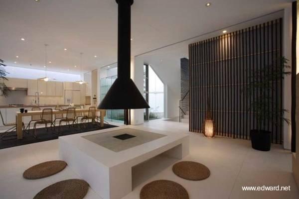 Arquitectura de casas: casa obra moderna japonesa.