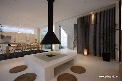 Sala de estar + chimenea