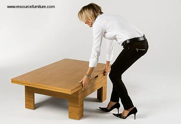 Arquitectura de casas mesa plegable para comedor y sala for Diseno de mesas plegables