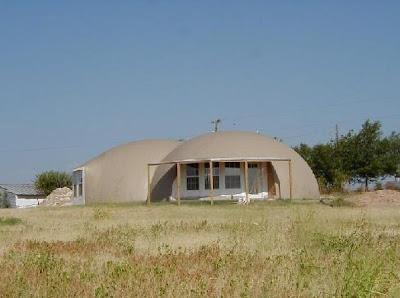 Casa doble domo de concreto