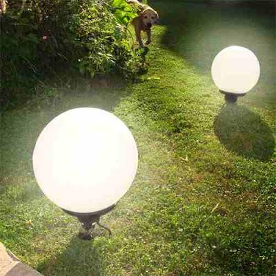 Globos luminosos de jardín