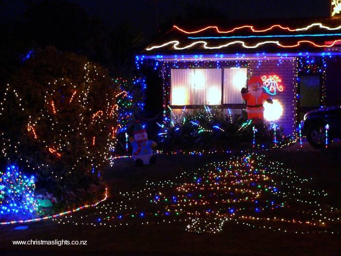 Arquitectura de casas luces de navidad - Casas decoradas en navidad ...