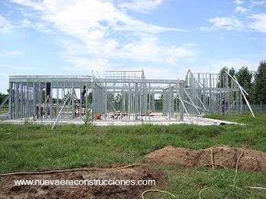 Casa de marcos de acero liviano obra seca