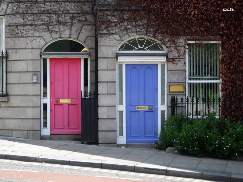 arquitectura de casas pintar las puertas de la casa