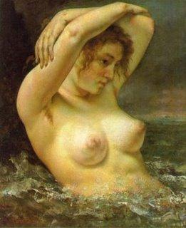 Mujer en las olas