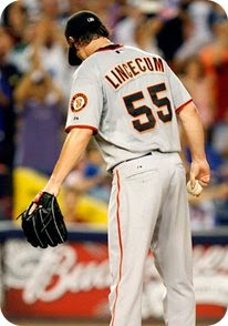Tim Lincecum couldn't pitch in the All-Star game due to a tummy ache and fever.