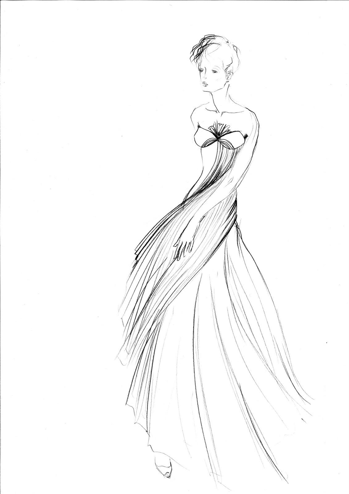 Styliste illustrateur croquis haute couture - Dessin couture ...