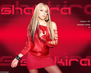 Shakira Beautyful Wallpaper