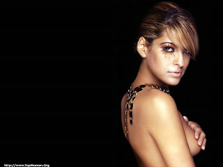 Eva Mendes Topless Wallpaper