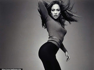Jennifer Lopez Black & White Wallpaper
