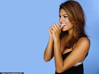 Eva Mendes Smiling Wallpaper