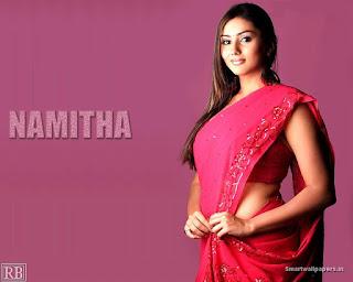 Sexy Namitha In Saree Wallpaper
