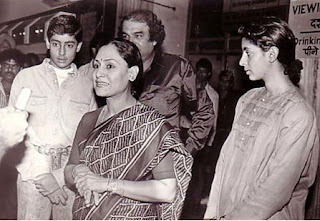 Jaya Bachchan With Abhishek
