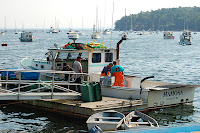 lobster boat in rockport harbor maine