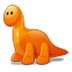My blog get new  favicon! Cute Orange Dino!