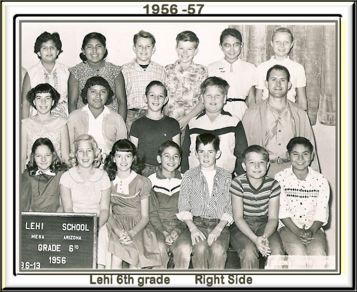 Lehi 6th grade 1956-57 Right Side