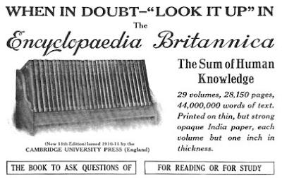 Advertise Encyclopaedia Britannica 1913
