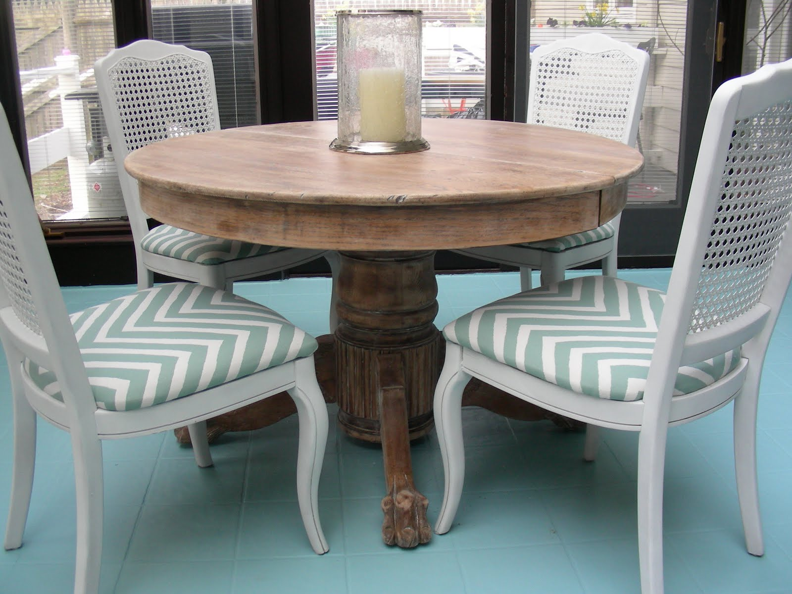 Amazing photo of GORGEOUS SHINY THINGS: DIY Limed Oak Table (  A Curbside Score) with #4C777F color and 1600x1200 pixels