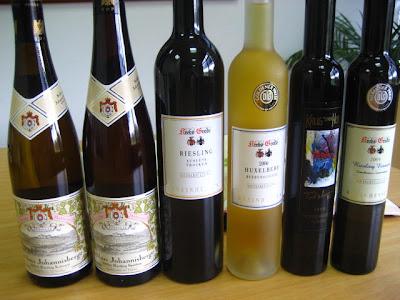 Algunos vinos de Alemania
