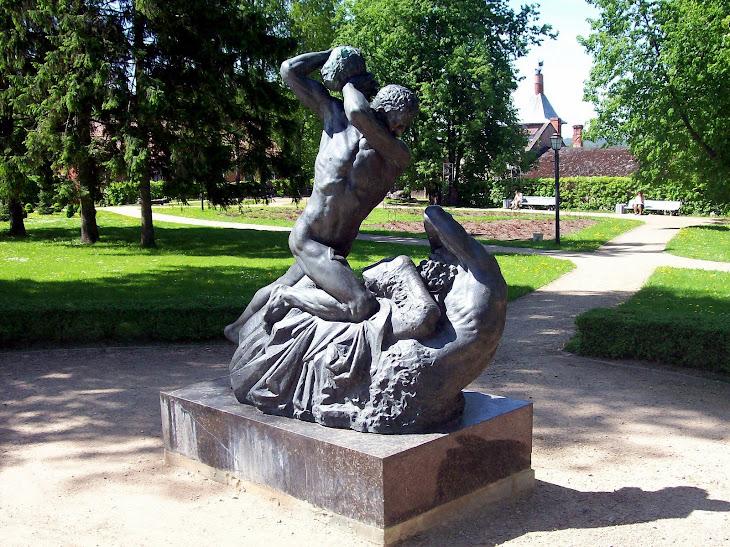 """Sculpture Karlis Jansons """" Battle with Centour """""""