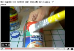 1 parte - Decoupage em latinha com esmalte sinttico