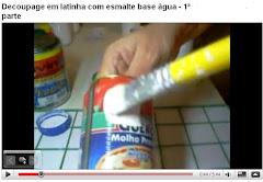 1ª parte - Decoupage em latinha com esmalte sintético