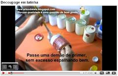 Apostilas filmadas - decoupage em latinha