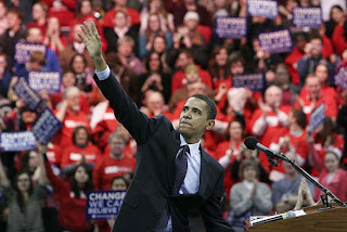 Obama appears at the Kohl Center in Madison, WI