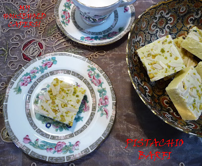 My household capers!: RECIPE: PISTACHIO FUDGE (PISTA BARFI)