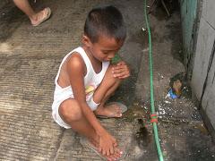 slum child's pet