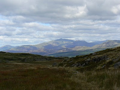 Looking north to Snowdon