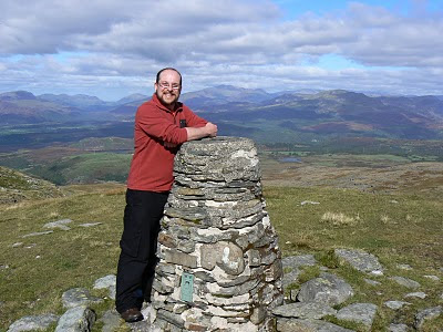 On the summit of Moel Ysgyfarnogod