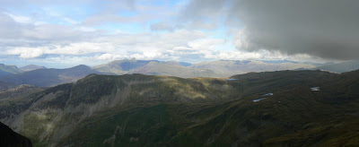 The north Snowdonia mountains from Moelwyn Mawr