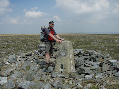 On the summit of Cross Fell during one of only two walks I did in the North Pennines in 2010