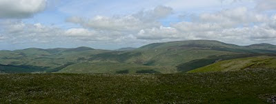 One of my favourite views of the year - the view north from Windy Gyle towards The Cheviot