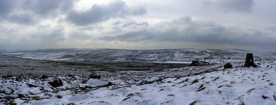 A wintry South Pennine landscape from Little Wolf Stones