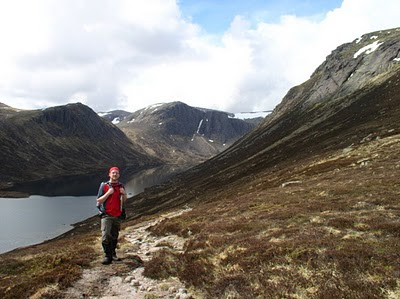 Above Loch Avon in the Cairngorms