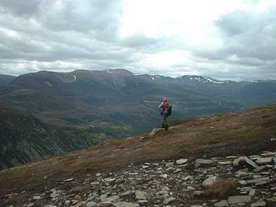 On Meall a' Bhuachaille looking towards the main Cairngorm plateau