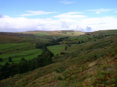 Looking down into Arkengarthdale from Fremington Edge