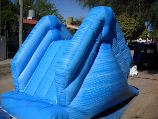 Juegos inflables tobogan inflable para piletas de natacion for Piletas redondas inflables carrefour