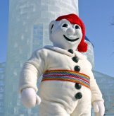 Canadian Snowman Bonhomme Carnaval from the Carnaval du Québec in Canada