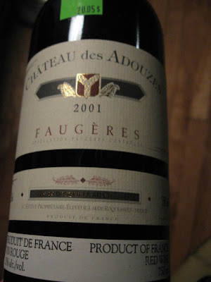 faugeres red wine chateau des adouzes 2001 review